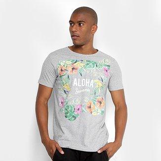 fcae643be0ad3 Camiseta Sideway Malha Listrada Aloha Masculina