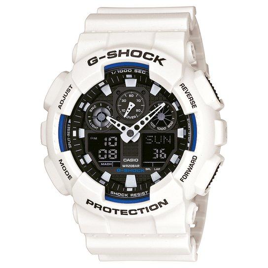 6330928b805 Relógio G-Shock GA-100 - Branco e Preto - Compre Agora