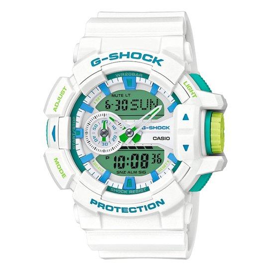 3ee14d23ffc Relógio Digital G-Shock GA-400WG - Branco e Verde - Compre Agora ...