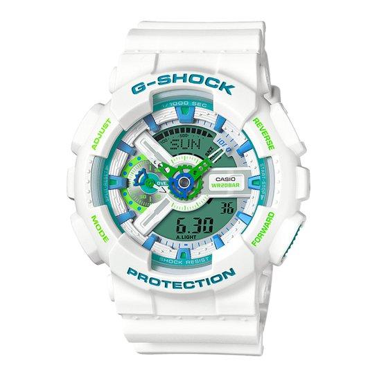 ec75f0bd7fd Relógio Digital G-Shock GA-110WG - Branco e Verde - Compre Agora ...