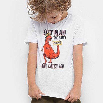 Camiseta Infantil Zeep! Dino Let's Play Masculina