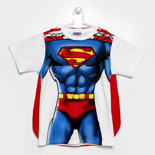 3a0c8f19f Camiseta Infantil Marlan SuperMan c  Capa Masculina - Compre Agora ...