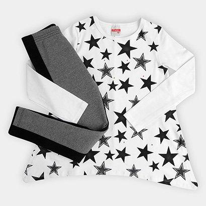 Conjunto Infantil Marlan Estrelas Feminino