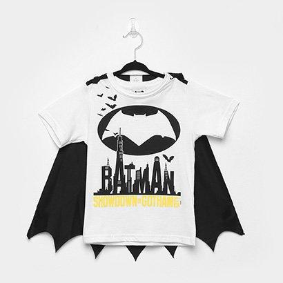 Camiseta Infantil Marlan Batman c/ Capa Removível -M6054