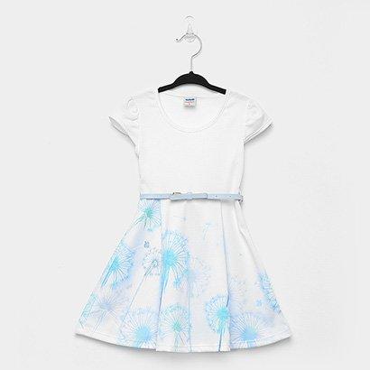 Vestido Infantil Marlan Estampado + Cinto