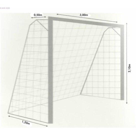 Rede Oficial de Futsal Fio 4 em Polipropileno- Par - Branco - Compre ... 1fb71ddddc222
