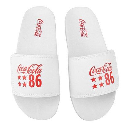 Chinelo Coca-Cola Slide Velcro 86 Star Masculino