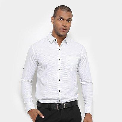 Camisa JAB Casual Estampada Manga Longa Masculina