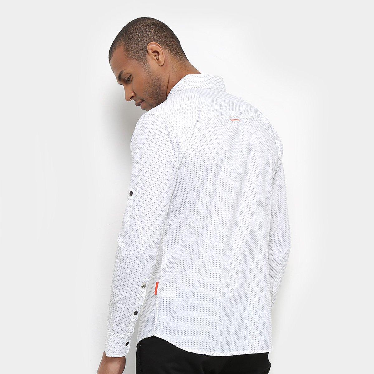 Foto 2 - Camisa JAB Casual Estampada Manga Longa Masculina