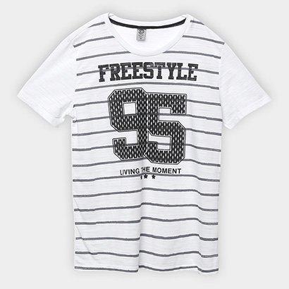 Camiseta Infantil Cativa Listrada Masculina