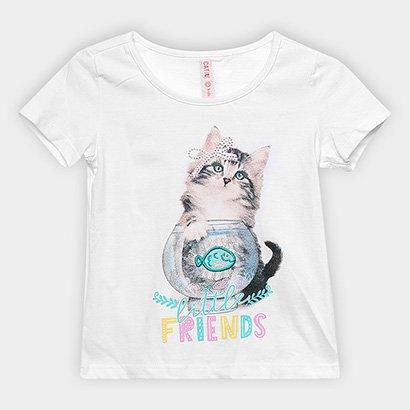 Blusa Infantil Cativa Little Friends Feminina