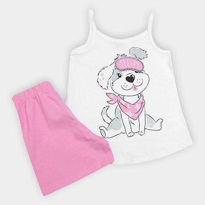 Pijama Infantil Kiko & Kika Cachorro Feminino