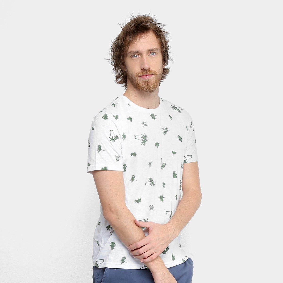 Foto 1 - Camiseta Tigs Gola Careca Malha Masculina