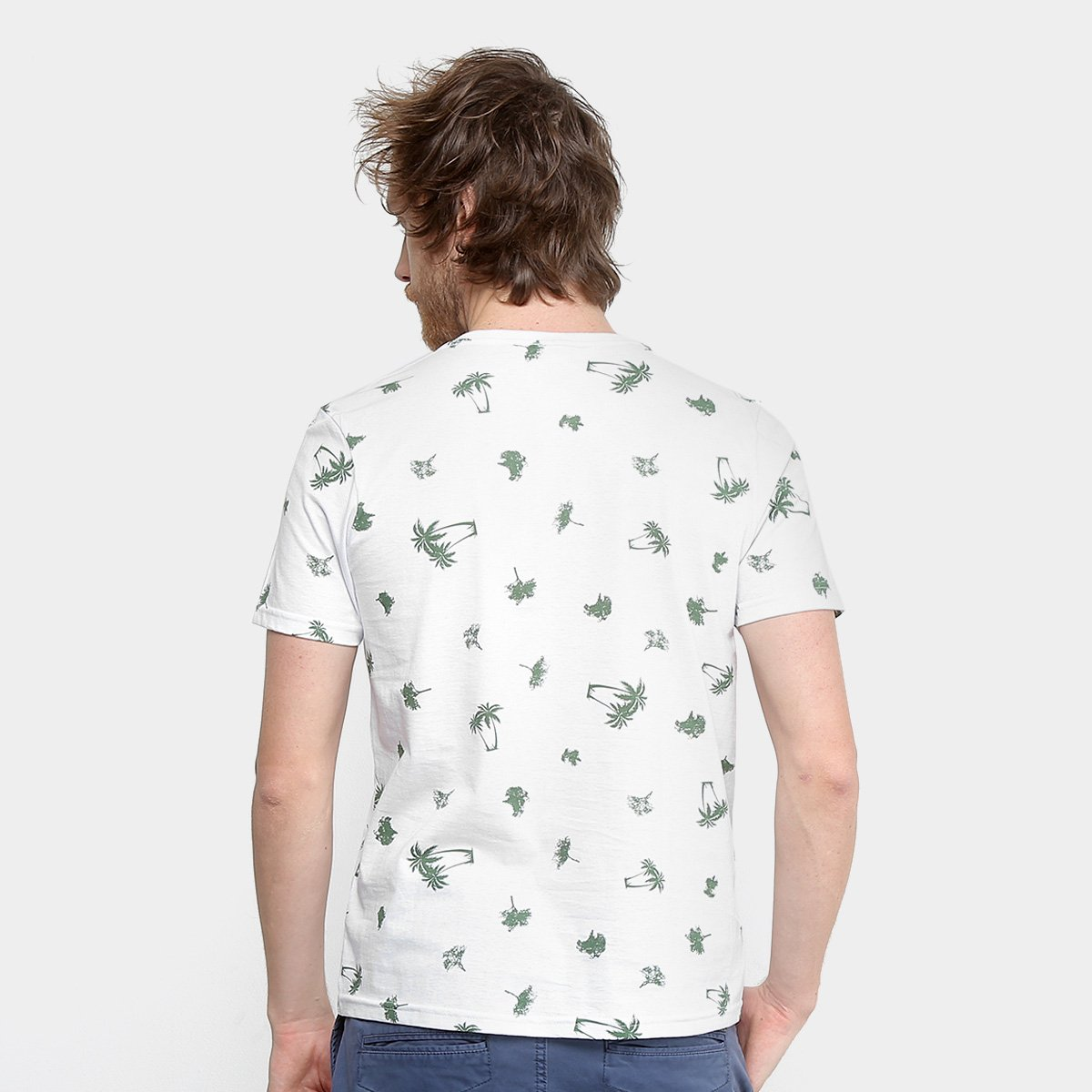 Foto 2 - Camiseta Tigs Gola Careca Malha Masculina