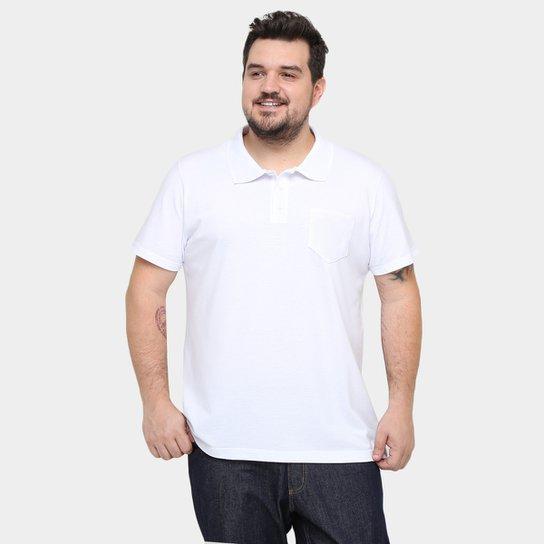Camisa Polo Kohmar Piquet Plus Size Masculina - Branco - Compre ... 6a18fce95a