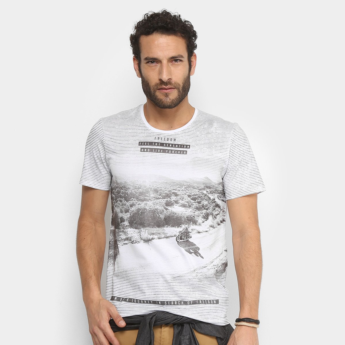 c707de81a1 Camiseta Kohmar Listrada Desert Riders Masculina