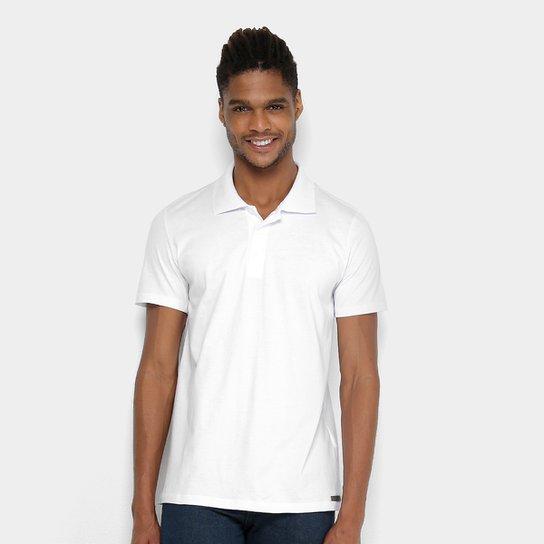 17de384938 Camisa Polo Kohmar Básica Malha Masculina - Branco - Compre Agora ...