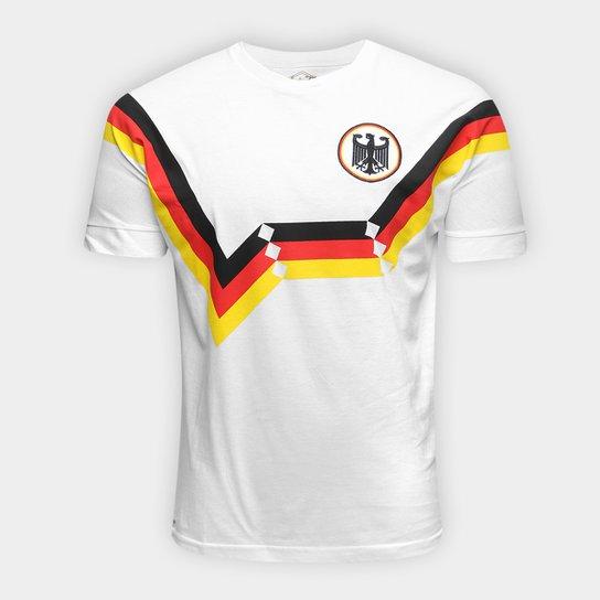 Camiseta Alemanha 1990 Retrô Times Masculina - Branco - Compre Agora ... 6eb0b0a485d04