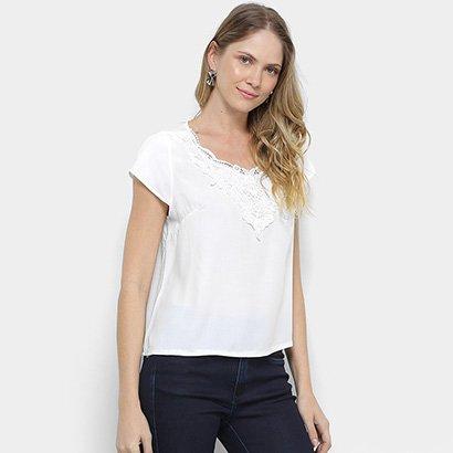Blusa MS Fashion Guipir Feminina