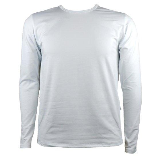 c092bee192 Camisa Térmica Masculina Segunda Pele Thermo Premium - Branco ...