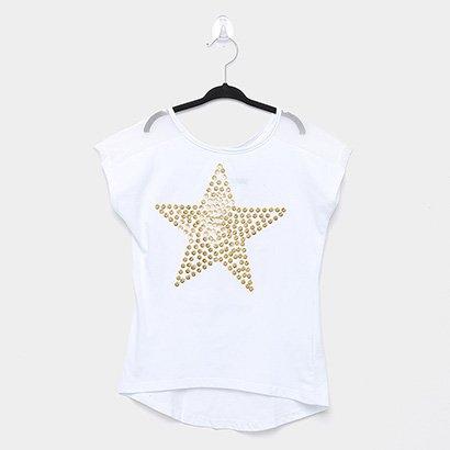 Blusa Infantil Amora Estrela Com Lantejoulas Feminina
