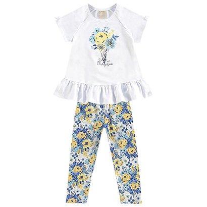 Conjunto Bebê Milon Estampado Floral Feminino