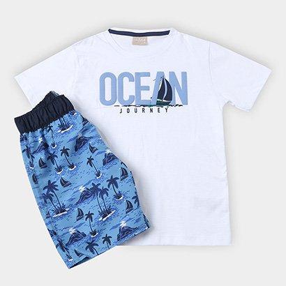 Conjunto Infantil Milon Camiseta Bermuda Masculino