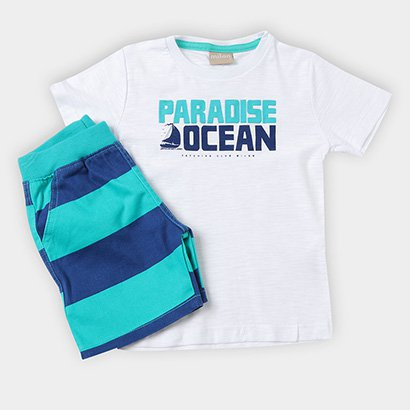 Conjunto Infantil Milon Camiseta Bermuda Masculina