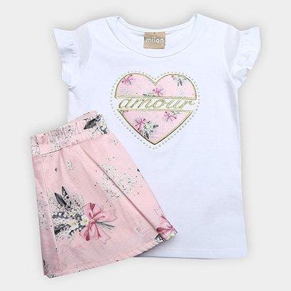 Conjunto Infantil Milon Estampa Floral Feminino