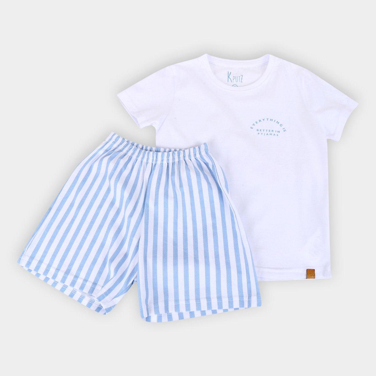 Pijama Infantil Cor com Amor Listras Masculino
