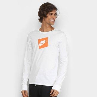 cd55920adf Camiseta Nike NSW Futura Box Manga Longa Masculina