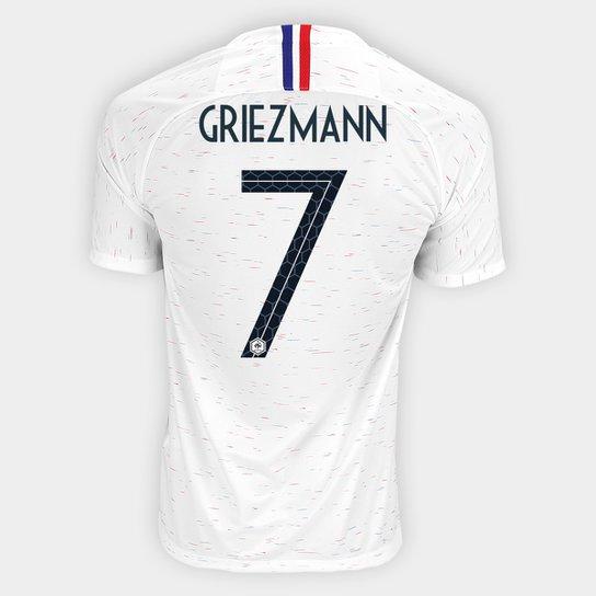 0dfc31e46 Camisa Seleção França Away 2018 n° 7 Griezmann - Torcedor Nike Masculina -  Branco