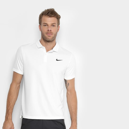 Camisa Polo Nike Dry Team Masculina - Branco - Compre Agora  9492dfe0bd5c2