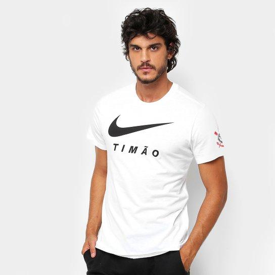 9a788d6c4b Camiseta Corinthians Nike Large Swoosh Masculina - Branco - Compre ...