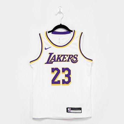 Regata Infantil Los Angeles Lakers Nike Swingman Association Masculina