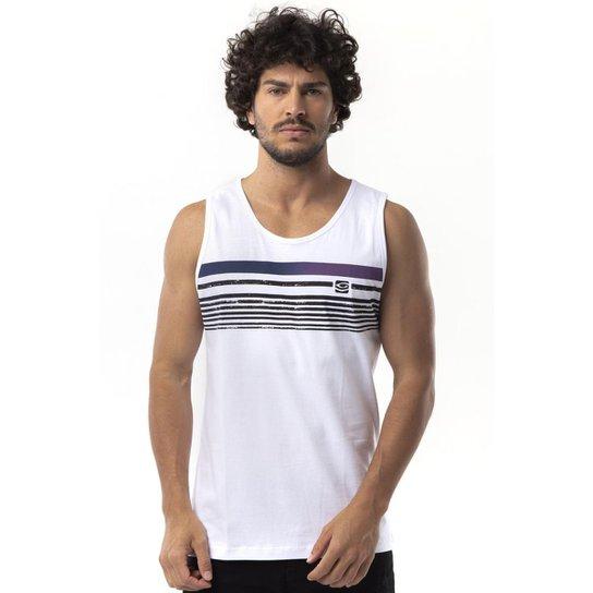5777fccf70 Regata Long Island Stripes Masculina - Branco