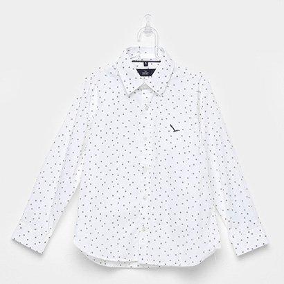 Camisa Infantil Yachtmaster Meia Malha Tricoline Estampada