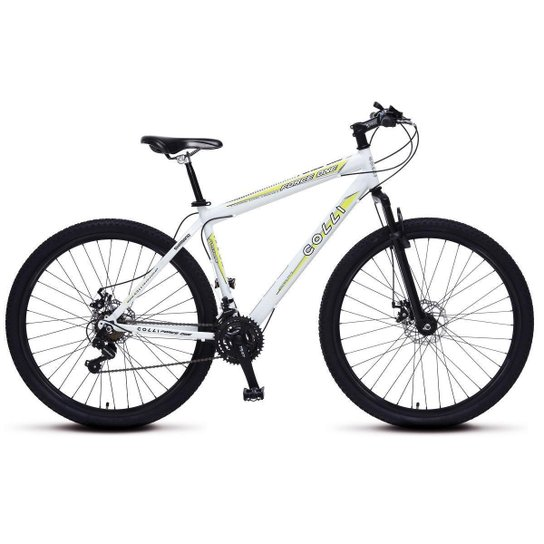 2ac57e8bf1a8c Bicicleta Colli Force One MTB Aro 29 21 Marchas Freios a Disco - Branco ...