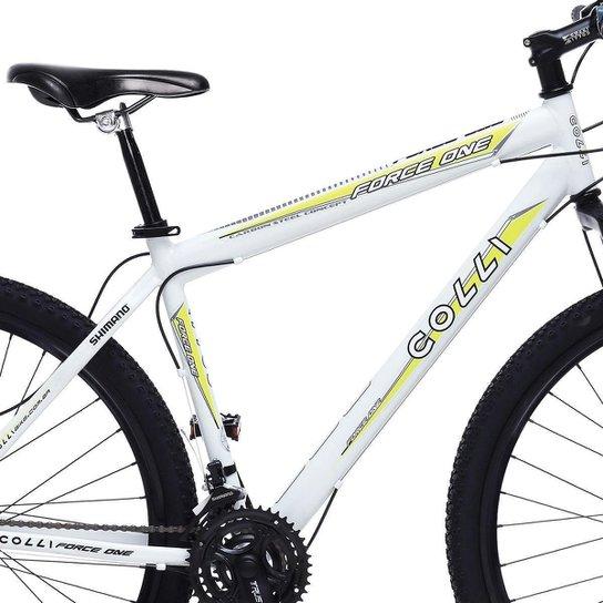 6187d865d ... Bicicleta Colli Force One MTB Aro 29 21 Marchas Freios a Disco - Branco  ...