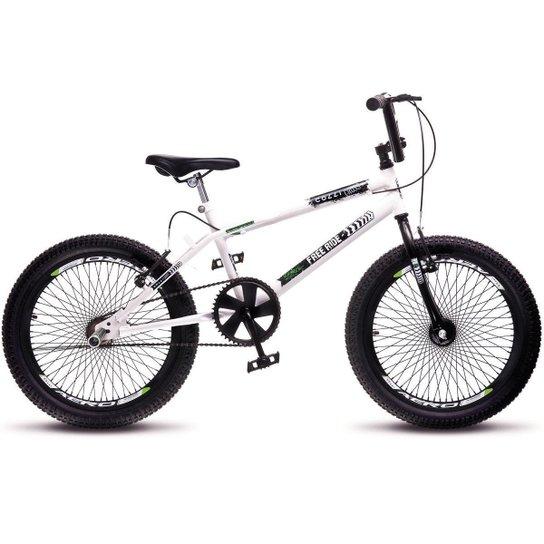 fb146492aa3f1 Bicicleta Colli Bmx Cross Extreme Aro 20 Aero 72 Raios - Branco ...