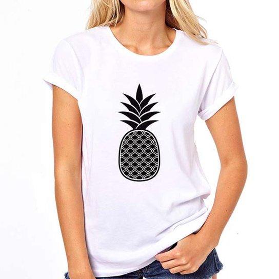51c727463 Camiseta Coolest Abacaxi Feminina - Branco | Netshoes