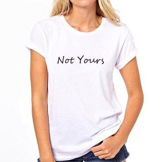 18a466db5 Camiseta Coolest Not Yours Feminina