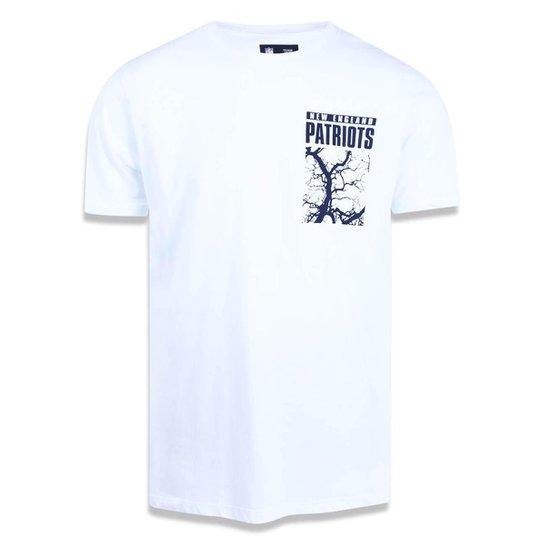 2cd365c47 Camiseta New England Patriots NFL New Era Masculina - Branco ...