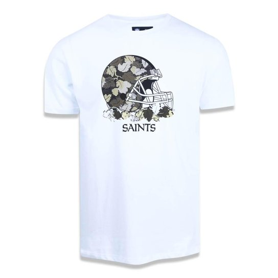 Camiseta New Orleans Saints NFL New Era Masculina - Branco - Compre ... 396f57f88cc