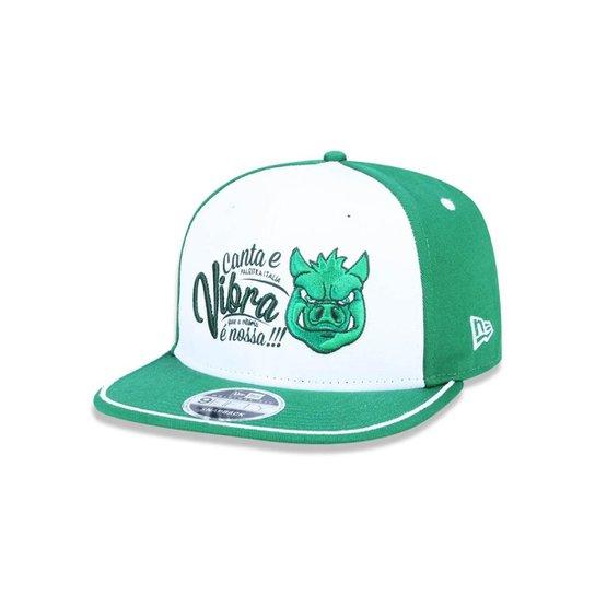 Boné 950 Original Fit Palmeiras Futebol Aba Reta Snapback New Era - Branco +Verde 272c8ece397bb