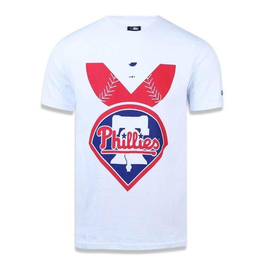 Camiseta Philadelphia Phillies MLB New Era Masculina - Branco ... d97038a1630