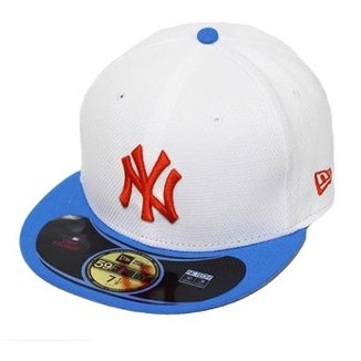 Boné New Era Aba Reta Fechado Mlb Ny Yankees Diamond Era Pop