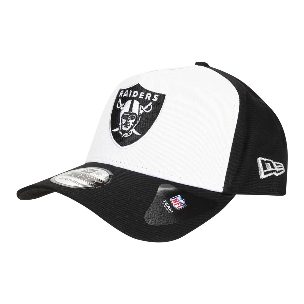 Boné New Era NFL Oakland Raiders Aba Curva Snapback940 Core Stamp