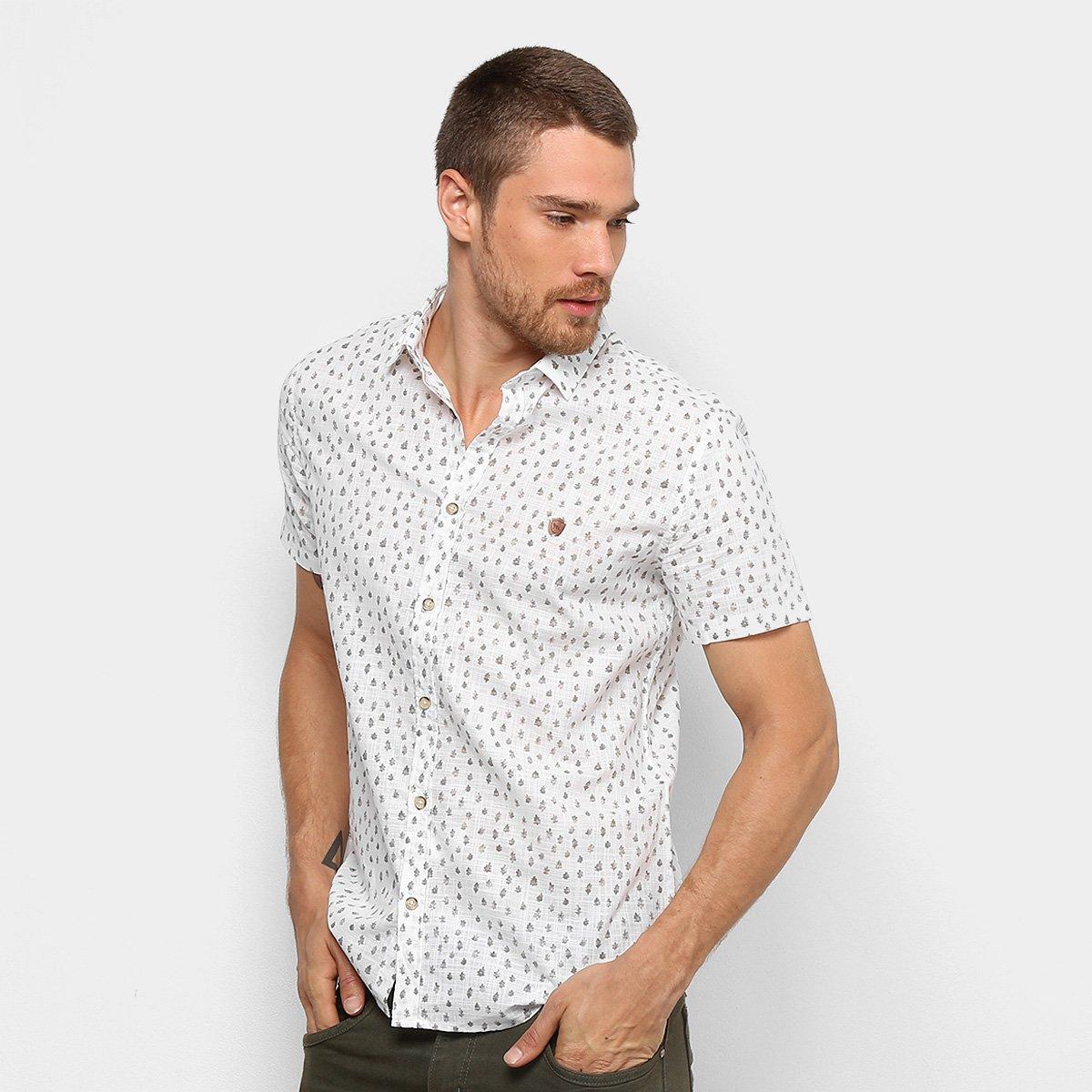 Camisa Acostamento Estampada Manga Curta Masculina. undefined 035957f44f0bb