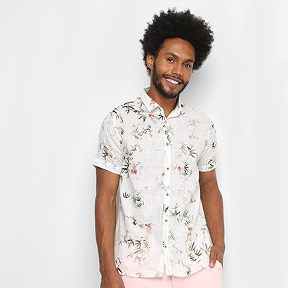 Camisa Acostamento Tropical Masculina